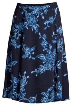 Draper James Shadow Floral A-Line Skirt