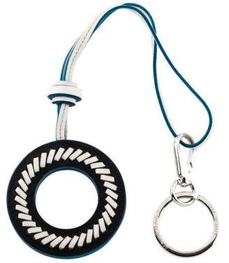 Tod's Leather Circle Keychain