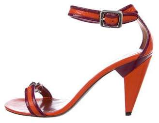 Marc Jacobs Leather Ankle Strap Sandals