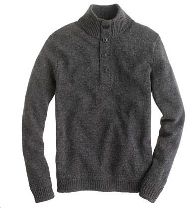 J.Crew Lambswool mockneck sweater