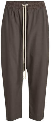 Rick Owens Cropped Harem Pants with Wool