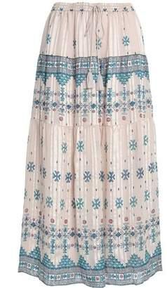Joie Tasseled Printed Silk-Blend Midi Skirt