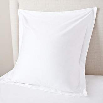 Scala SCALABEDDING Bedding European Square Pillow Shams Set of 2 Pieces 500 Thread Count White Solid Pillow sham Euro Square 26 X 26 +2 Inches 100% Egyptian Cotton