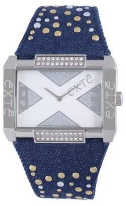 Exte Women's EX.4032M/05Z Blue Canvas Band watch.