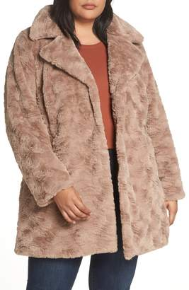 Kenneth Cole New York Wubby Faux Fur Coat