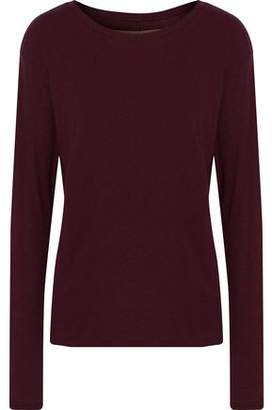 Enza Costa Mélange Cotton And Cashmere-Blend Jersey Top