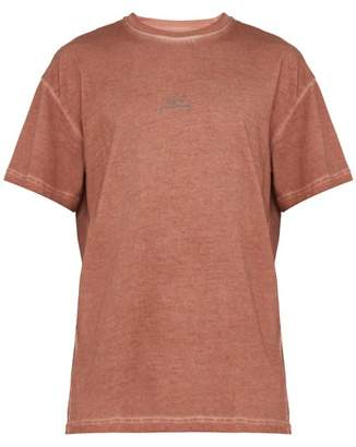 A-Cold-Wall* A Cold Wall* Logo Print Cotton T Shirt - Mens - Orange