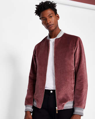 Ted Baker MARTINO Luxury velvet bomber jacket