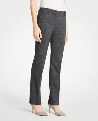 Ann Taylor The Tall Straight Leg Pant In Fine Crosshatch