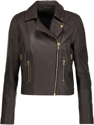 Muubaa Harrier leather biker jacket $445 thestylecure.com