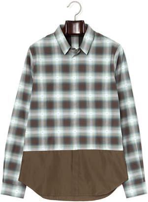 N°21 (ヌメロ ヴェントゥーノ) - N 21 チェック切替 比翼仕立て 長袖シャツ グリーン 44