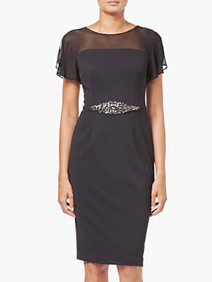 846a854bf7dd Adrianna Papell Short Beaded Waist Crepe Dress
