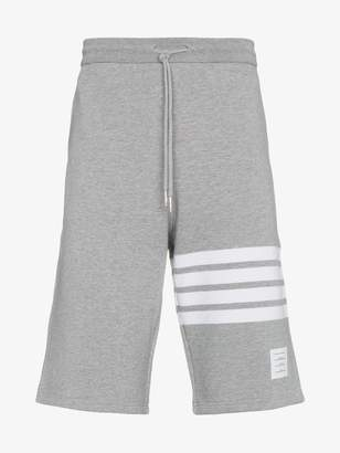 Thom Browne Light Grey Classic Sweat Shorts With Engineered 4-bar Stripe