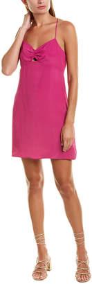 Lavender Brown Racerback Silk-Blend Shift Dress