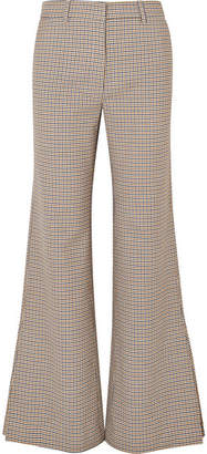 Paul & Joe Houndstooth Tweed Flared Pants - Beige