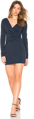 Bobi Jersey Draped Mini Dress