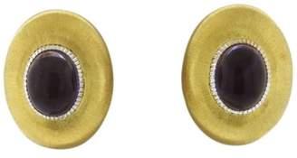 Buccellati 18K Yellow Gold & Amethyst Dome Earrings