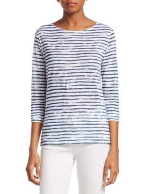 Majestic Filatures Striped Linen Top