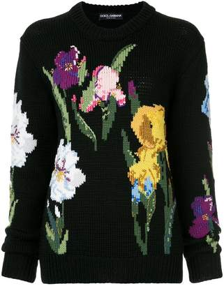 Dolce & Gabbana floral fitted sweater