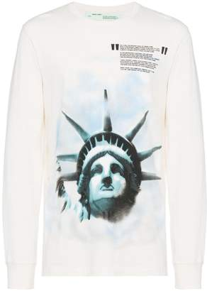 Off-White Statue of Liberty longsleeved t shirt