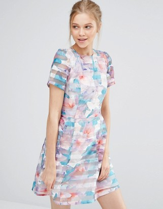 Oasis Digital Floral Organza Prom Dress $106 thestylecure.com