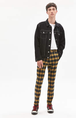 Pacsun Skinny Trouser Yellow Plaid Pants