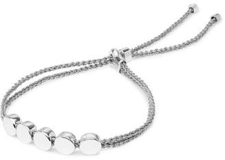Monica Vinader Linear Bead Sterling Silver And Woven Bracelet