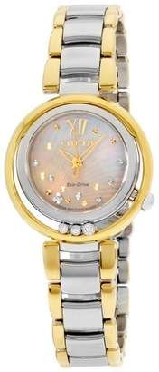 Citizen EM0324-58D Stainless Steel & Gold Quartz 29mm Womens Watch
