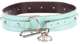 VersaceVersace Embossed Waist Belt