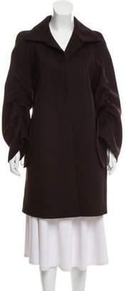 Akris Wool and Angora Blend Knee-Length Coat