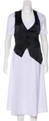 If Six Was Nine Linen-Blend Vest