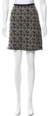Alaia A-Line Wool Skirt