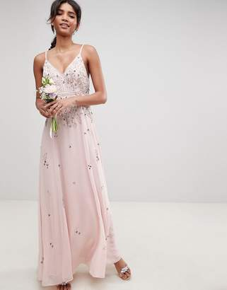 Asos Design DESIGN embellished cami maxi dress