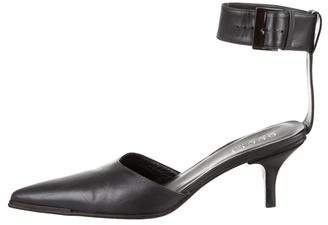Gucci Leather Ankle-Strap Pumps