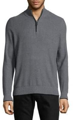 Tailorbyrd Heathered Half-Zip Sweater