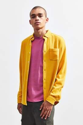 Pleasant Long Sleeve Wool Button-Down Shirt