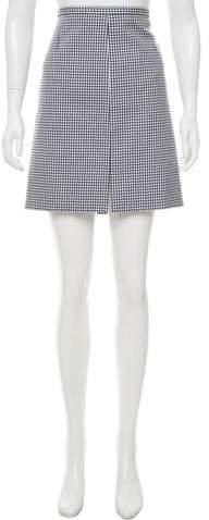 Michael Kors Gingham Mini Skirt