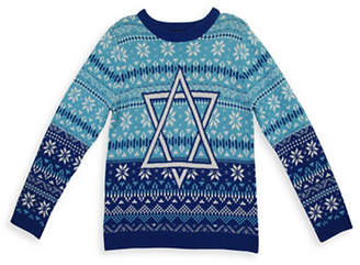 33 Degrees Star of David Cotton Sweater