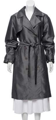 DKNY Double-Breasted Notch-Lapel Coat