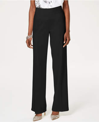 INC International Concepts I.n.c. Wide-Leg Crepe Side Zip High Waist Pants
