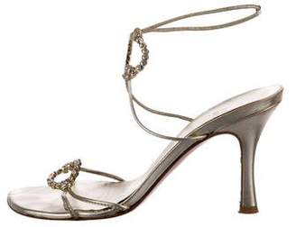 Stuart Weitzman Leather Embellished Sandals