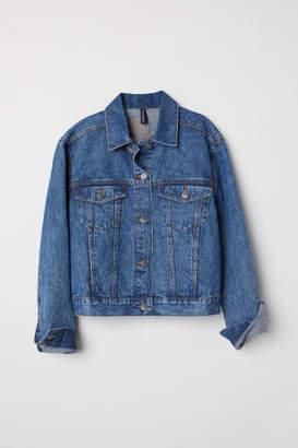 H&M Denim Jacket with Appliques - Blue