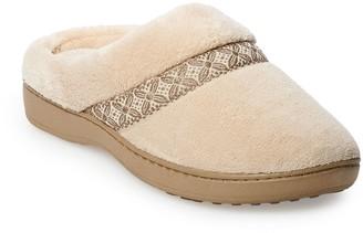 Isotoner Women's Jena Microterry Hoodback Slippers