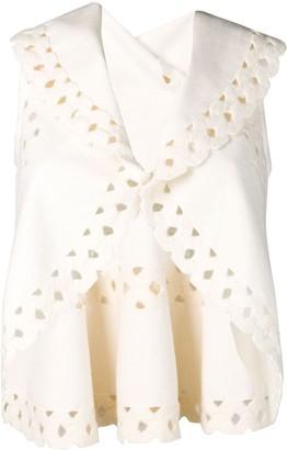 Alaia Pre-Owned sleeveless cut out shrug