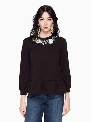 Kate Spade Embroidered pullover