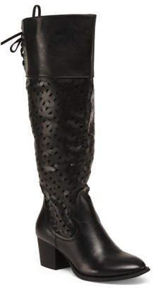 Western Inspired Knee High Boots