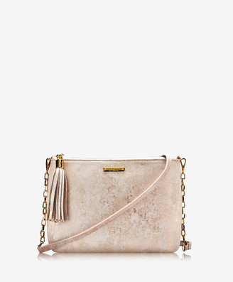GiGi New York Chelsea Crossbody, Gold Brush Metallic