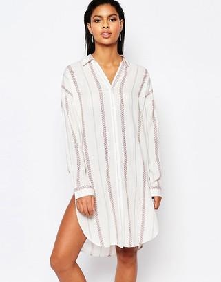 Moon River Striped Shirt Dress $98 thestylecure.com