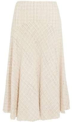 Alexander McQueen Metallic Tweed Midi Skirt