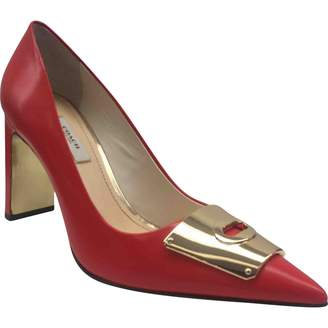 Coach Red Leather Heels